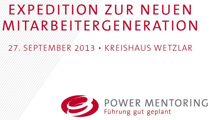 Expedition zur neuen Mitarbeitergeneration - Power Mentoring - Moderator - Hans-Peter Wellke - Clean Language Deutsch