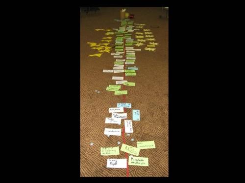 7 - Lernen ist im Gehirn zeitlich strukturiert - timelines unterstützen den Zugang bei Lessons Learned Workshops